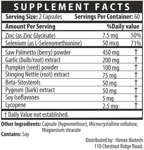 Prostara - Supplement Facts