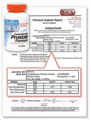 Comprehensive Prostate Formula Lab Report