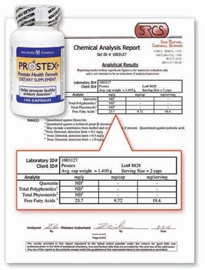 prostex Lab Report