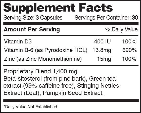 Vasotrexx Supplement Facts