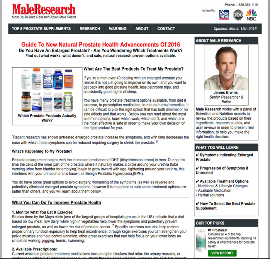 Male Research Scam